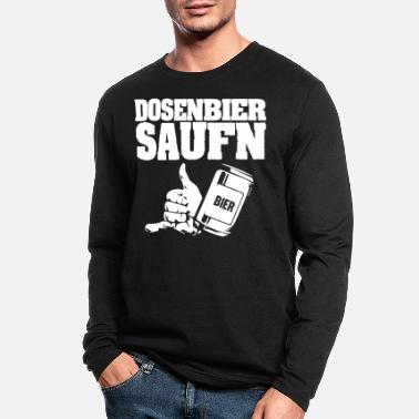 Bleschstulle Party - Dosenbier saufen - Men's Longsleeve Shirt