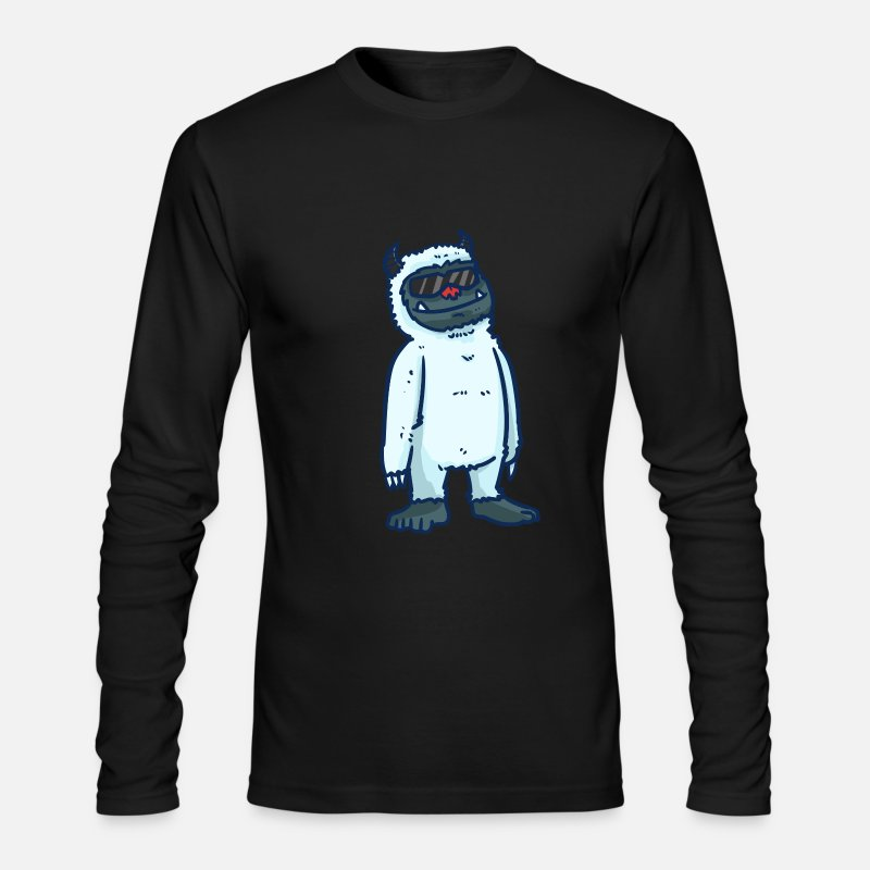 Alma Long sleeve shirts - Yeti Himalaya. snowman gift Bigfoot - Men's Longsleeve Shirt black
