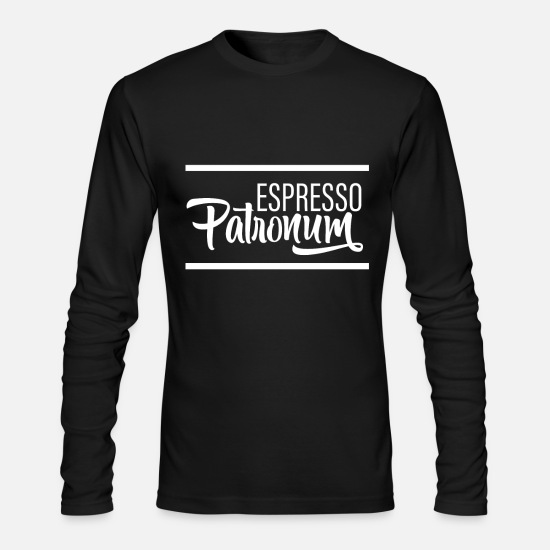 Magic Long-Sleeve Shirts - Espresso Patronum - Men's Longsleeve Shirt black