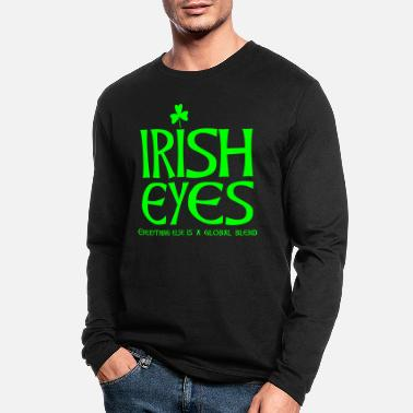 St Patricks Day Irish eyes - Men's Longsleeve Shirt