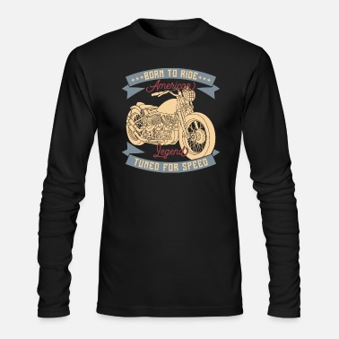 Chopper motorcycle chopper american - Men's Long Sleeve T-Shirt by Next Level