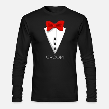 Suit Tuxedo Bow Tie Costume - Men's Longsleeve Shirt