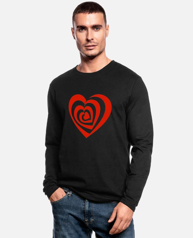 Blocks Long-Sleeved Shirts - Heart irritating - Men's Longsleeve Shirt black