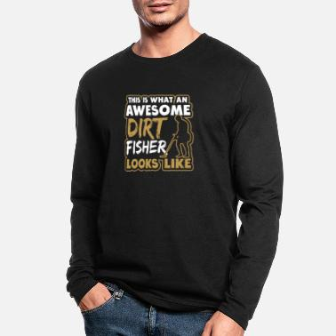 Mother-to-be Metal Detecting Awesome Dirt Fisher Gift - Men's Longsleeve Shirt