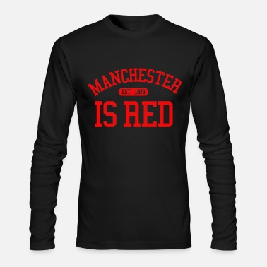 United Manchester is Red United Kingdom Soccer Sport Cool - Men's Longsleeve Shirt