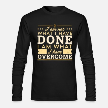 Celebrate Celebrate Recovery Tshirt Christian Cross Quote - Men's Long Sleeve T-Shirt by Next Level