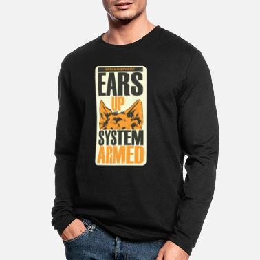 Armed German Shepherd - Ears Up System Armed - Men's Longsleeve Shirt