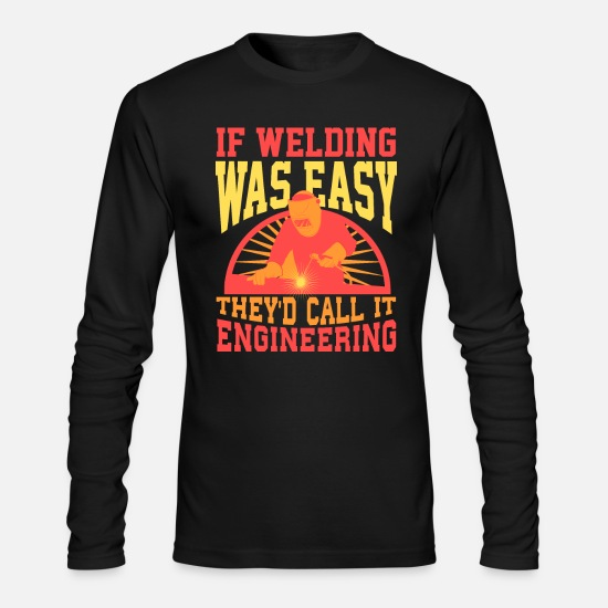 Ironworker Long-Sleeve Shirts - Welder - Men's Longsleeve Shirt black