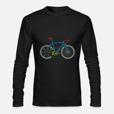 Cycling Bicycle anatomy for bike and cycling lovers - Men's Longsleeve Shirt