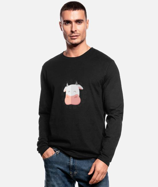 Husband Long-Sleeved Shirts - Cow - Men's Longsleeve Shirt black