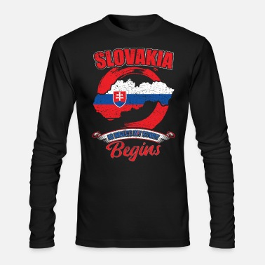 Story Slovakia Is Where My Story Begins - Men's Long Sleeve T-Shirt by Next Level