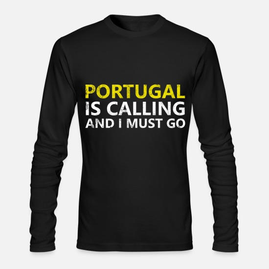 Eu Long sleeve shirts - portugal - Men's Longsleeve Shirt black