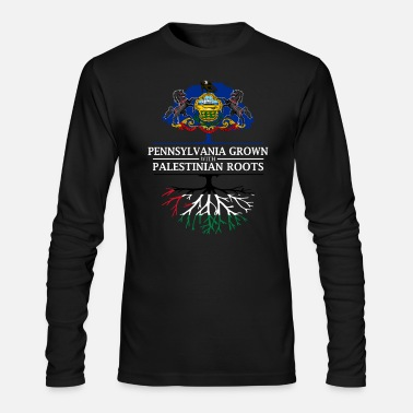 Palestinian Pennsylvania Grown with Palestinian Roots - Men's Long Sleeve T-Shirt by Next Level