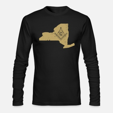 Fraternity New York Mason Fraternity Shirt Masonic Clothing - Men's Long Sleeve T-Shirt by Next Level