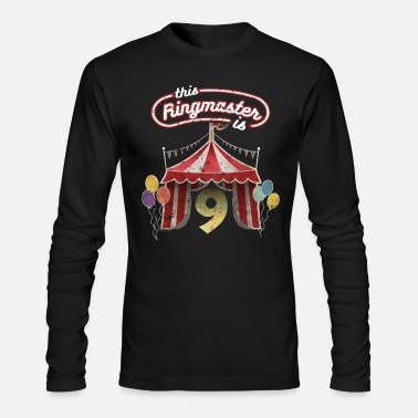 Circus Circus Ringmaster 9th Birthday Kids - Men's Longsleeve Shirt