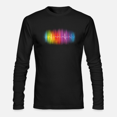 Pulse Gay Pride - Gay Rainbow Pulse - Men's Longsleeve Shirt