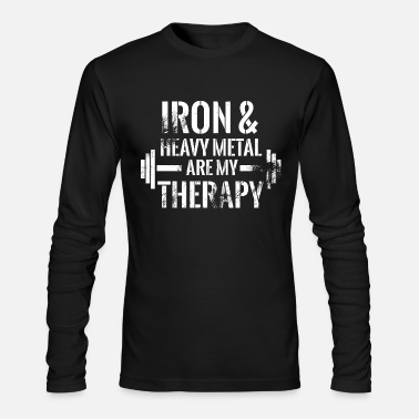 Iron Metal Iron and hevay metal are my therapy 2 - Men's Longsleeve Shirt