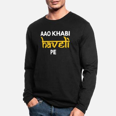 Dialogue Aao Kabhi Haveli Pe Hindi Slogan - Men's Longsleeve Shirt