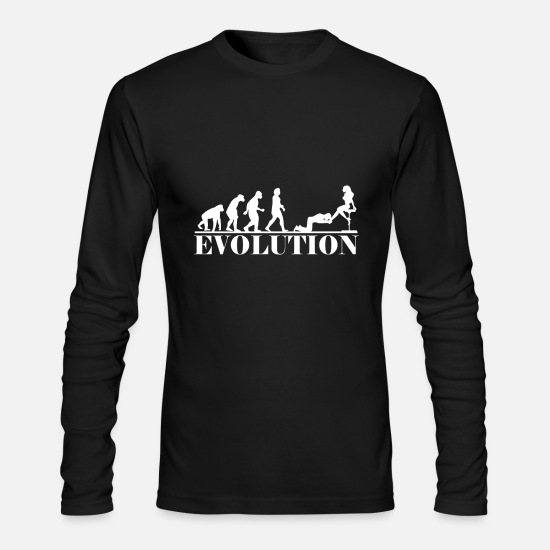 Submissive Long-Sleeve Shirts - Slave evolution submissive BDSM dirty - Men's Longsleeve Shirt black