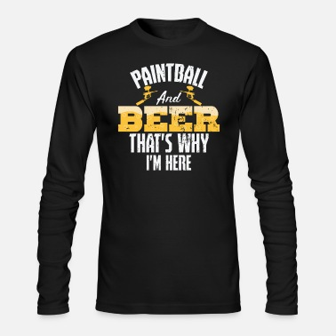 Painting Paintball and beer - Men's Longsleeve Shirt