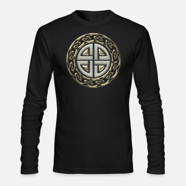 Celtic shield knot, Protection Amulet, Germanic, - Men's Longsleeve Shirt
