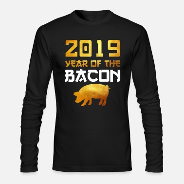 China 2019 YEAR OF THE PIG EARTH BACON CHINESE NEW YEAR - Men's Longsleeve Shirt