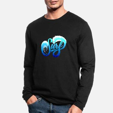 Surf Surfer Astronaut Space Surfing - Men's Longsleeve Shirt