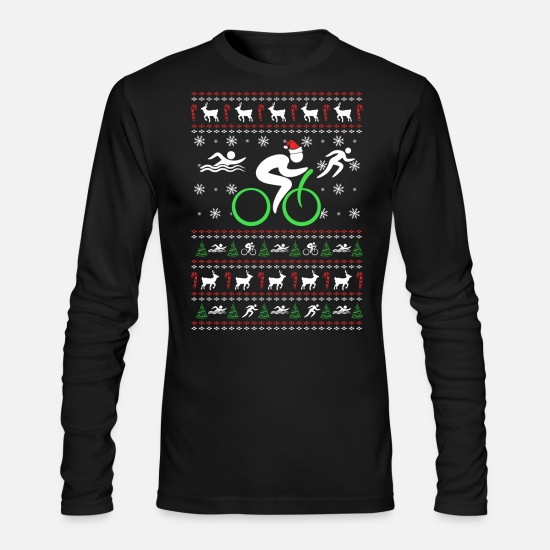 Triathlon Long-Sleeve Shirts - Triathlon - Triathlon - Triathlon chistmas swear - Men's Longsleeve Shirt black