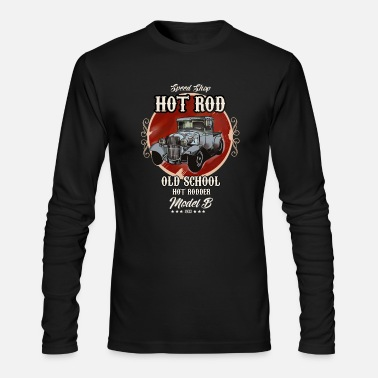 Rockabilly Vintage Old School Hot Rodder Oldtimer Shirt - Men's Longsleeve Shirt