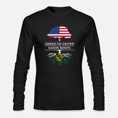 Saxon American Grown with Saxon Roots Saxony Design - Men's Long Sleeve T-Shirt by Next Level