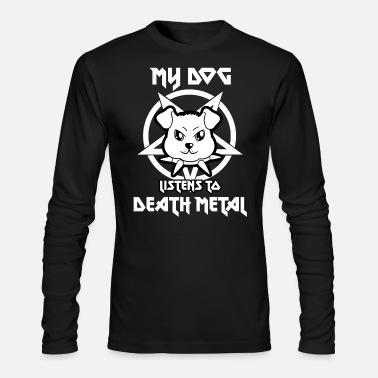 Death Metal Dog Death Metal - Men's Longsleeve Shirt