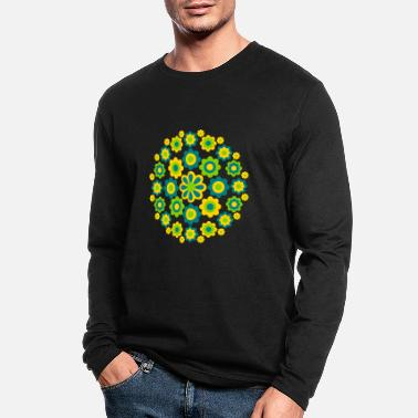 Cheerful Madness Floral Wheel by Cheerful Madness!! - Men's Longsleeve Shirt