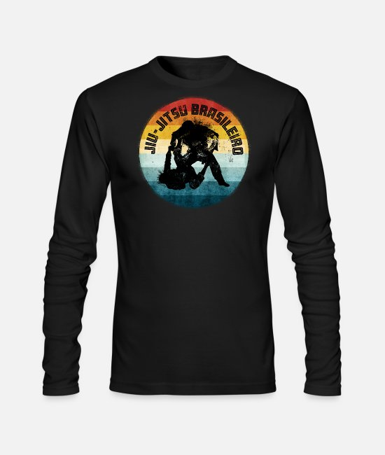 Mma Long-Sleeved Shirts - BJJ Brazilian Jiu-Jitsu - Men's Longsleeve Shirt black