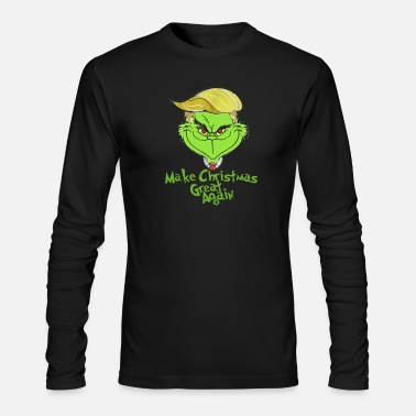 Again Grinches Trump make christmas great again - Men's Longsleeve Shirt