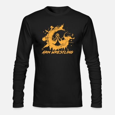 arm wrestling, - Men's Long Sleeve T-Shirt by Next Level
