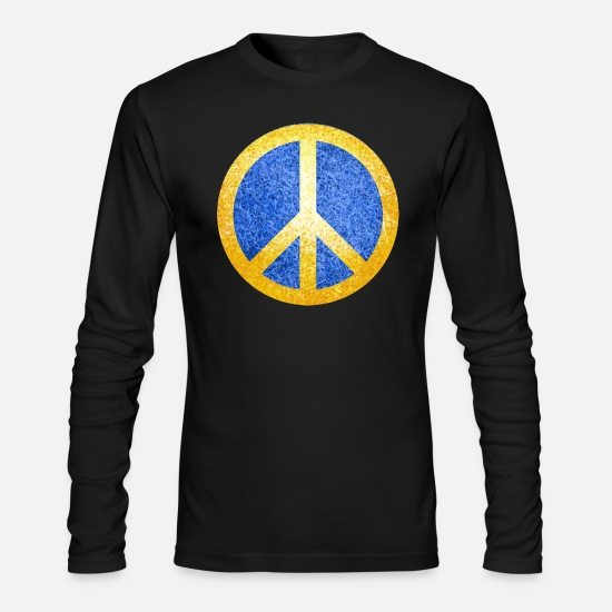 Peace Sign Long-Sleeve Shirts - Peace, Jesus, God, Believe, Christ, - Men's Longsleeve Shirt black