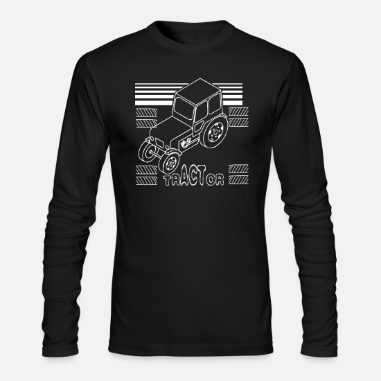 Tractor Long-Sleeve Shirts - tractor pulling - Men's Longsleeve Shirt black