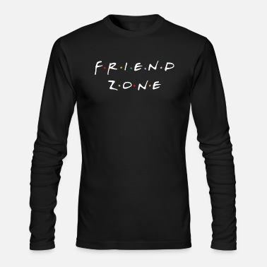 Tv Friend Zone - White Text - Men's Longsleeve Shirt