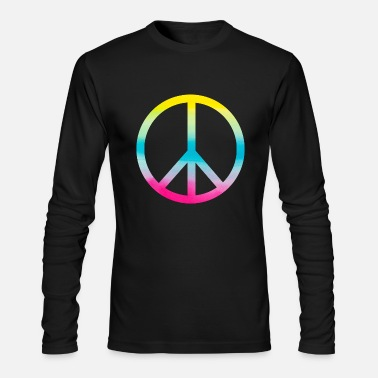 Peace Sign Peace Symbol Peace Sign - Men's Long Sleeve T-Shirt by Next Level