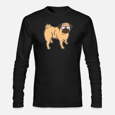 Transgender Trans Pride Pug Transgender LGBT Gift - Men's Long Sleeve T-Shirt by Next Level