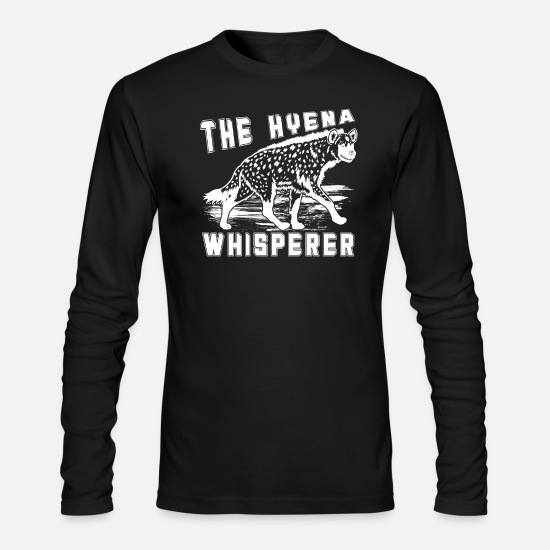 Hyena Long-Sleeve Shirts - The Hyena Whisperer Shirt - Men's Longsleeve Shirt black