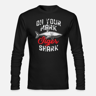 Fins Up Tiger Shark Animal Shark Fin Sharks Fish Sea Gift - Men's Longsleeve Shirt