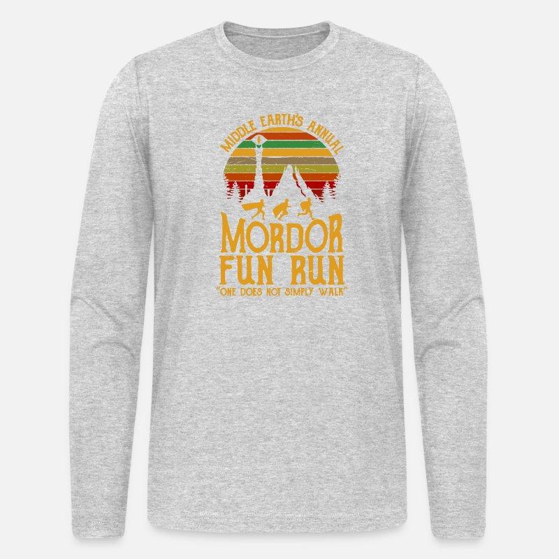 79573fae Middle Earth s Annual Mordor Fun Run Men's Longsleeve Shirt   Spreadshirt