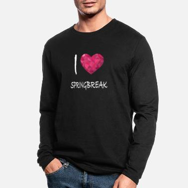I love Springbreak - Men's Longsleeve Shirt