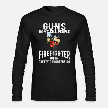 Father And Daughter Father daughter firefighter firefighter - Men's Longsleeve Shirt