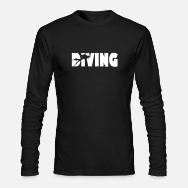 Diving Diver Dive Art - Men's Long Sleeve T-Shirt by Next Level