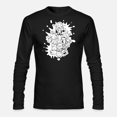 Happy Face Happy Faces - Men's Long Sleeve T-Shirt by Next Level