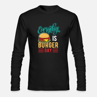Burger Burger food Hamburger cheeseburger eat meat cheese - Men's Longsleeve Shirt