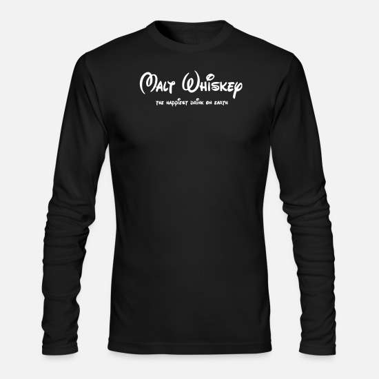 Whiskey Long-Sleeve Shirts - Malt Whiskey Drinking Alcohol Party - Men's Longsleeve Shirt black