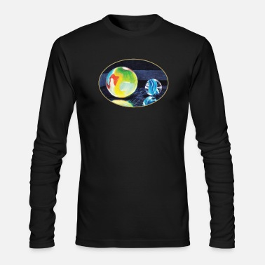 Marble Marble Light - Men's Long Sleeve T-Shirt by Next Level